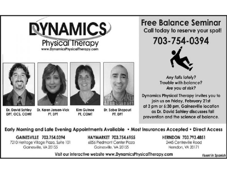 Physical Therapy Sterling VA | Visit: http://www.dynamicsphysicaltherapy.com/