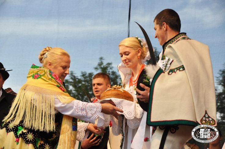 Traditional wedding in the town of Zakopane, region of Podhale, Poland [source].