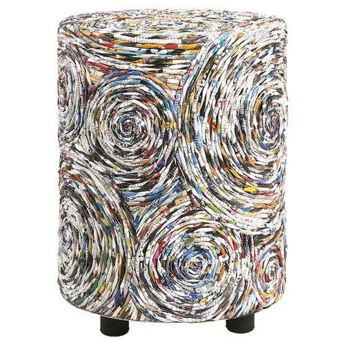 eco design: Anise Recycled Magazine Stool | stool . Hocker . tabouret | IMAX worldwide home |