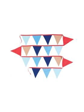 Kids All Aboard Bunting from Linen House's Hiccups range, available at Forty Winks.