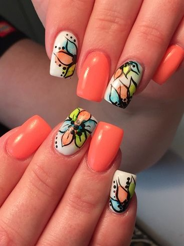 581 best Flower Nail Art images on Pinterest