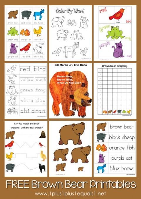 brown_bear_brown_bear_printables book activitiespreschool - Preschool Books About Colors
