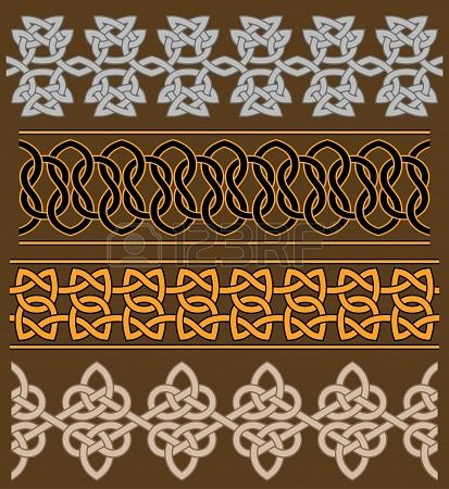 Set of celtic ornaments and patterns for ethnic design
