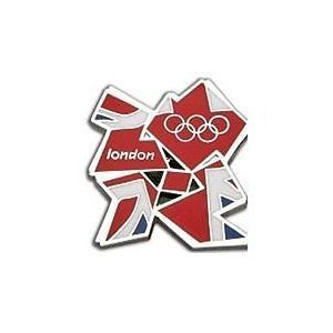 NEW Offical London 2012 Olympic  Team GB Union Jack Metal cut pin