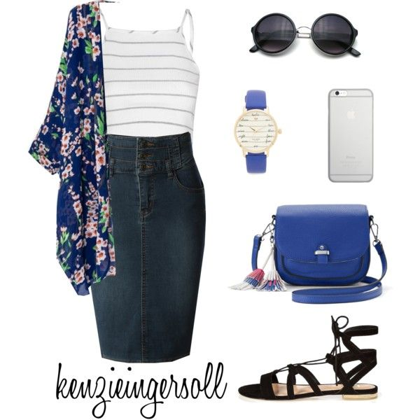 A fashion look from June 2017 by kenzieingersoll featuring Glamorous, LE3NO, River Island, Candie's, Kate Spade, Native Union, modestishottest, ApostolicFashion...