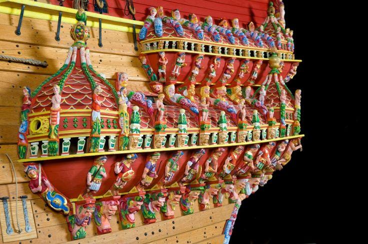 Colorful Carved Detail On The Vasa Model Vasa Swedish