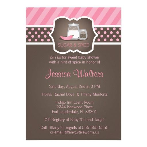 22 best images about pink and brown polka dot baby shower, Baby shower invitations