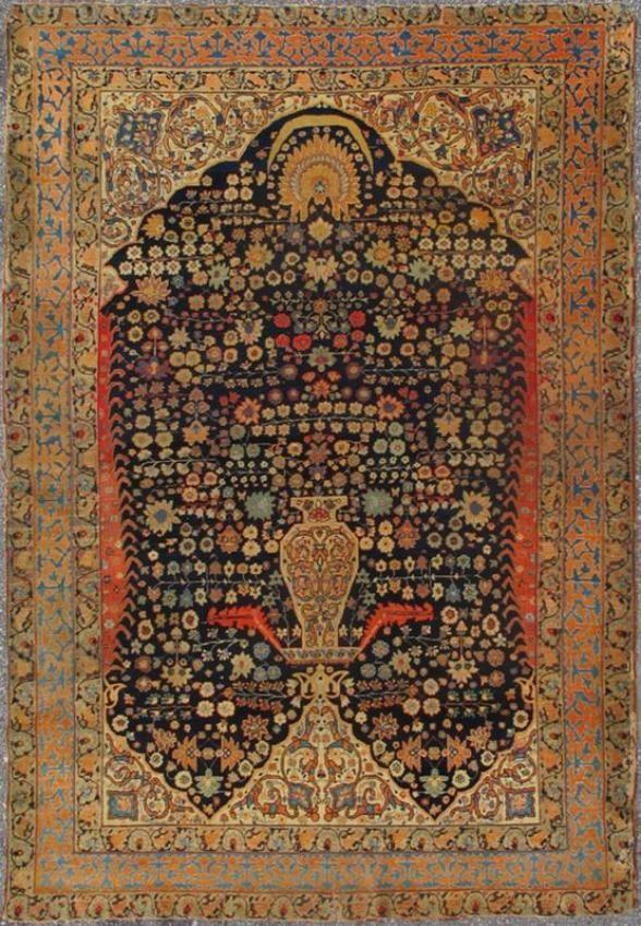 "KEIVAN WOVEN ARTS,   Type :Tabriz Origin :Iran  Size : 4'4""x6'7""  Circa :1850"