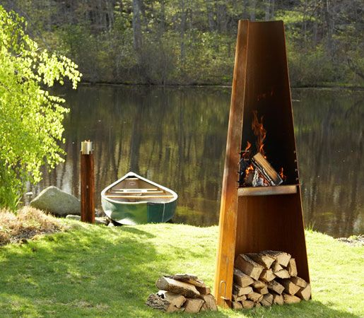Wittus-Fire by Design - The Phoenix Outdoor Wood Burning Grill #DailyProductPick