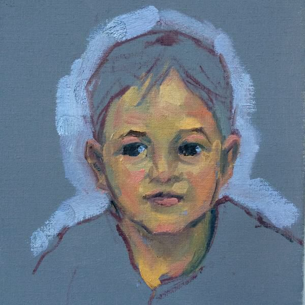 Kemp - 2015, The little boy I didn't want to end up with, but was happy with even so Oil on linen, 24x35cm Werkvankemp.nl
