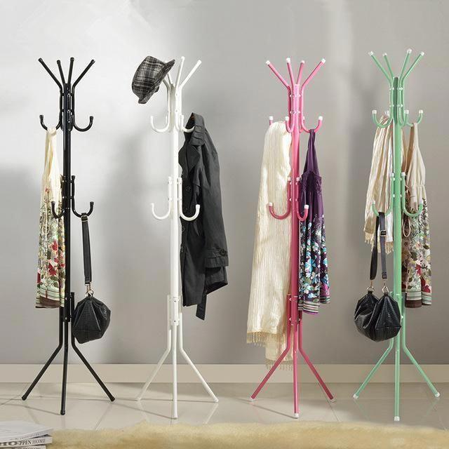 Wholesale Cheap Coat Rack Use Fashion Hat Bag Hang Coat Rack Metal Tripod Stand Metal Clothes Rack Clothing Rack Coat Hanger Stand