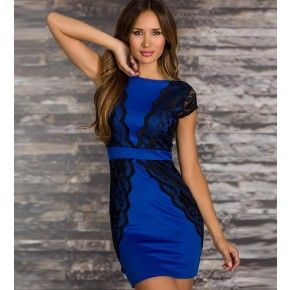 Blue dress juniors black