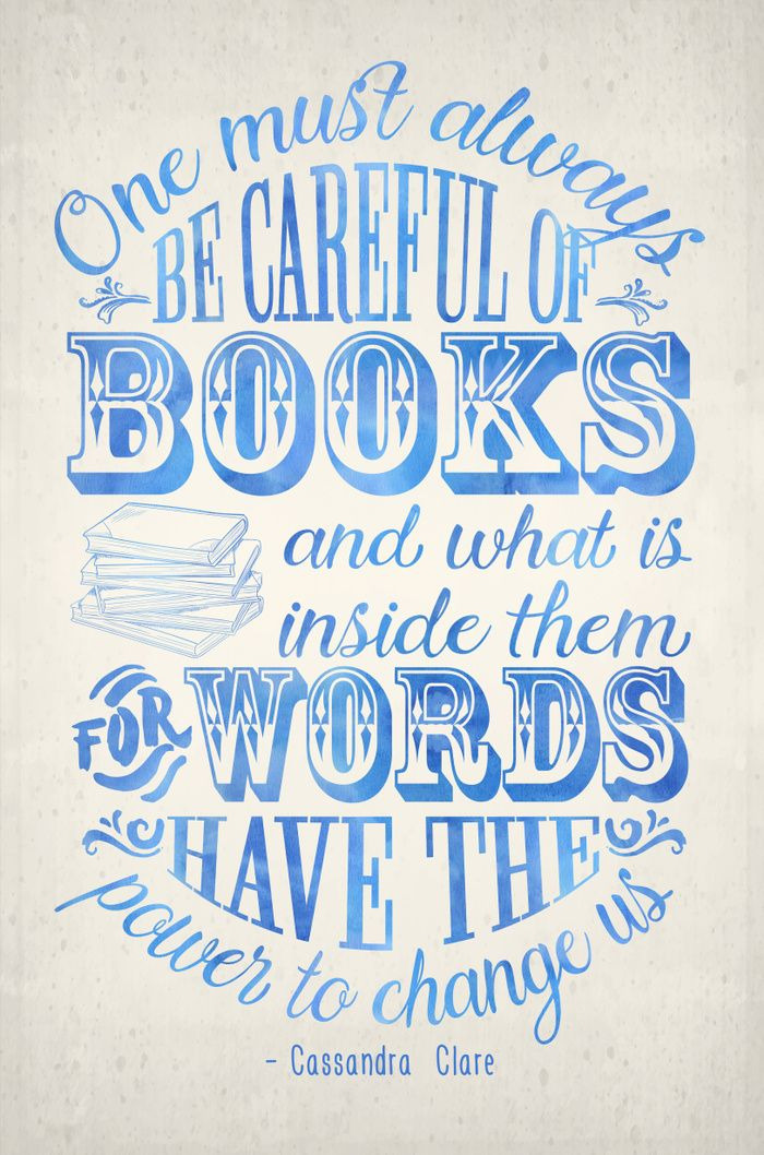 Be Careful Of Books - White and Blue Art Print by Evie Seo | Society6