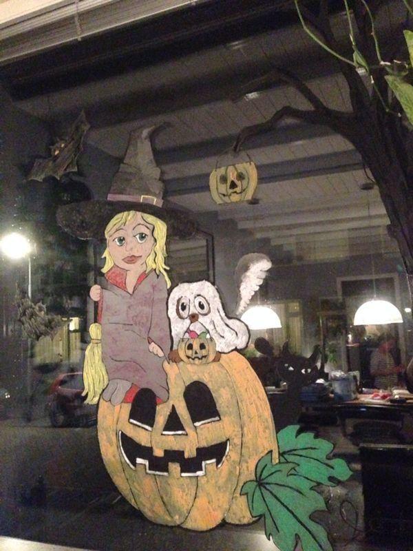 Mijn nieuwste raamschildering voor halloween/ sintermaarten ; ) 2013