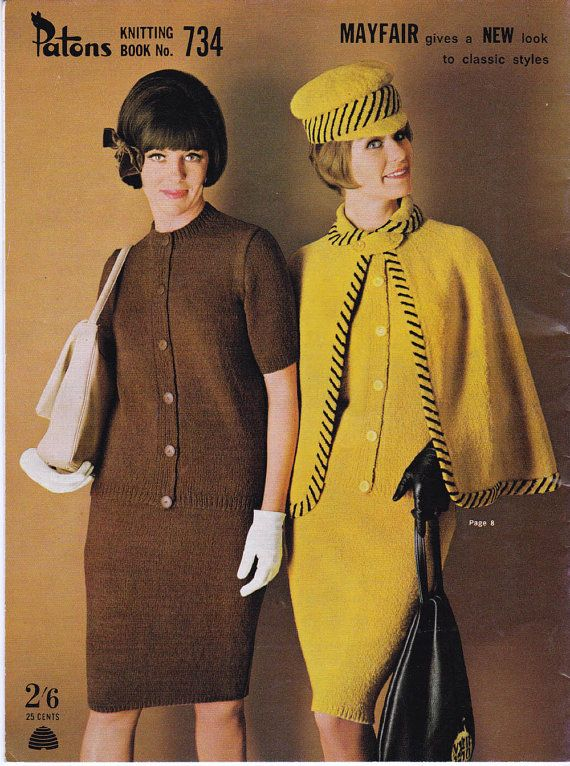 Vintage 60s Knitting patterns booklet by allthepreciousthings