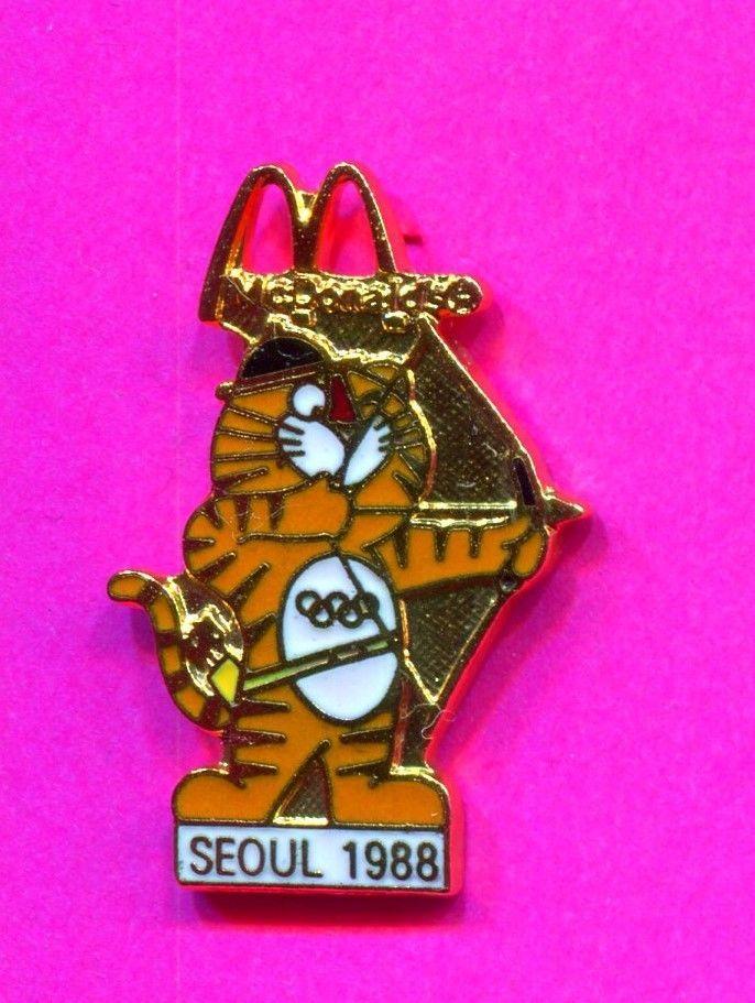 1988 OLYMPIC SEOUL MCDONALDS SOCCER PIN HODORI ARCHERY PIN  | eBay