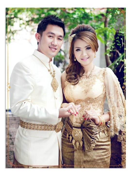 Cambodia Traditional Dress On Wedding Day