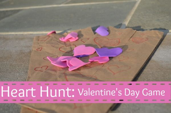 We've been playing a simple Valentine's Day activity this week: a heart hunt. It can be played indoors or outdoors – both get the kids moving and laughing! Valentine's Day Activity Set Up Craft foam (or paper – but paper tears more easily) scissors paper lunch bags I cut hearts …