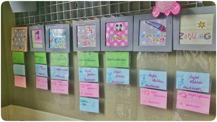 Takenbordjes voor kinderen #weekplanner #taakverdeling