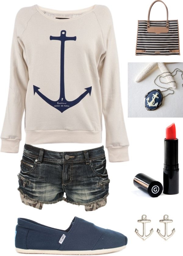 anchor jumper yes& love the red lipstick with it!!