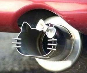 Stop wasting money on expensive car mods that barely do anything, because nothing can compare to the raw performance gains you'll experience when you introduce a Hello Kitty exhaust pipe onto your ride - turning your weak horse power into monstrous kitty power! Buy It Concept via KittyHell.com