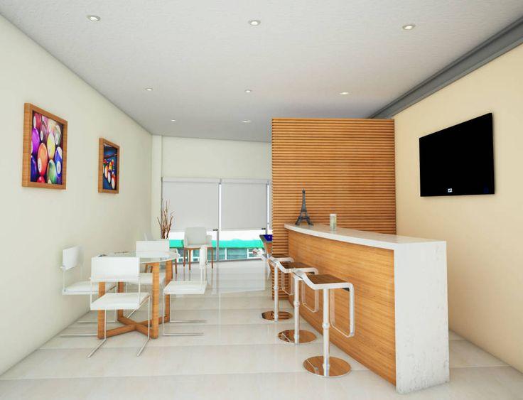 Busca imágenes de Casas de estilo minimalista en blanco: Bar y area de juego. Encuentra las mejores fotos para inspirarte y crea tu hogar perfecto.