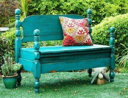 farbe bemalen kissen dekorieren gartenmöbel selber bauen schatten