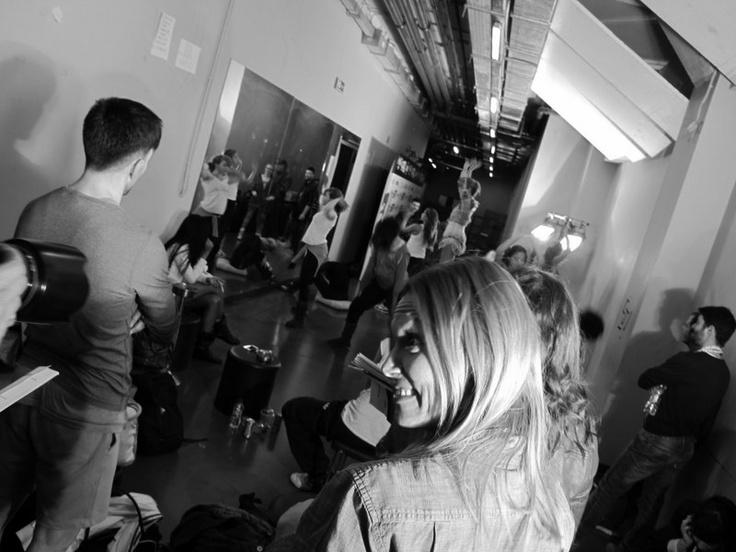 Vicky Kaya backstage at MadWalk 2013 by Coca-Cola light
