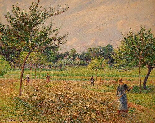 La cosecha del heno, Camille Pisarro Flickr – Galería de UGArdener (CC BY-NC 2.0)