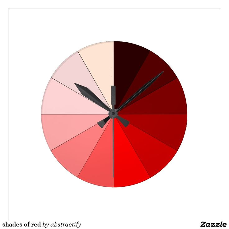 shades of red round clock