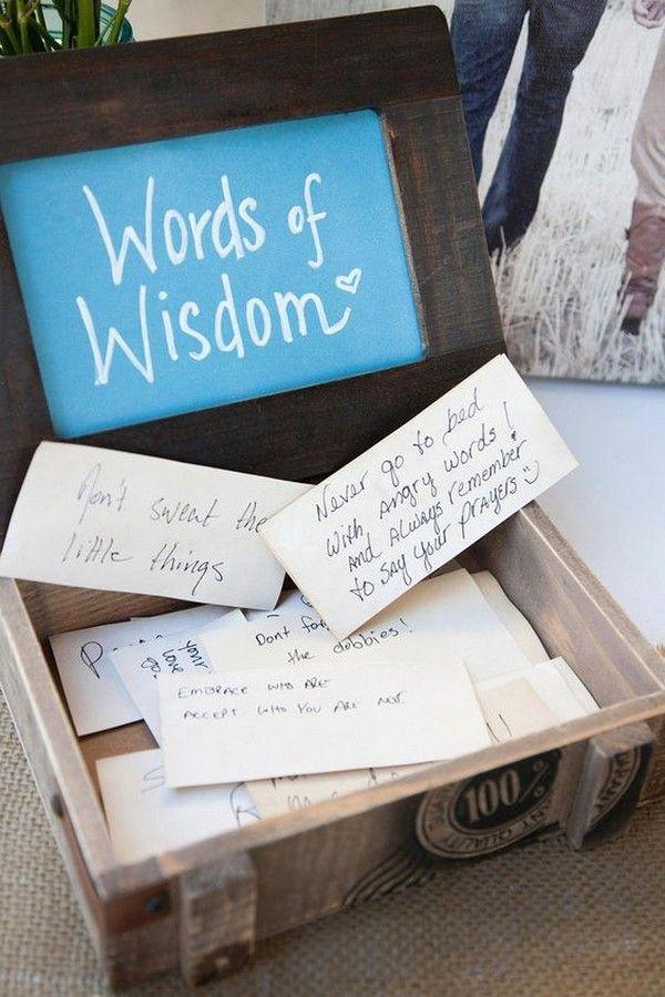 words of wisdom wedding guest book ideas #weddingideas #weddingguestbooks