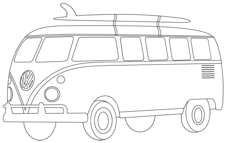 Vw Bus Coloring Pages