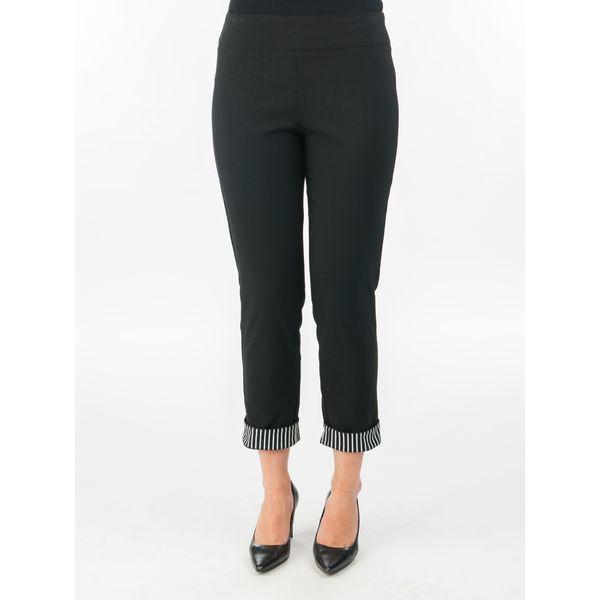 Cuffed Capri Pants in Black