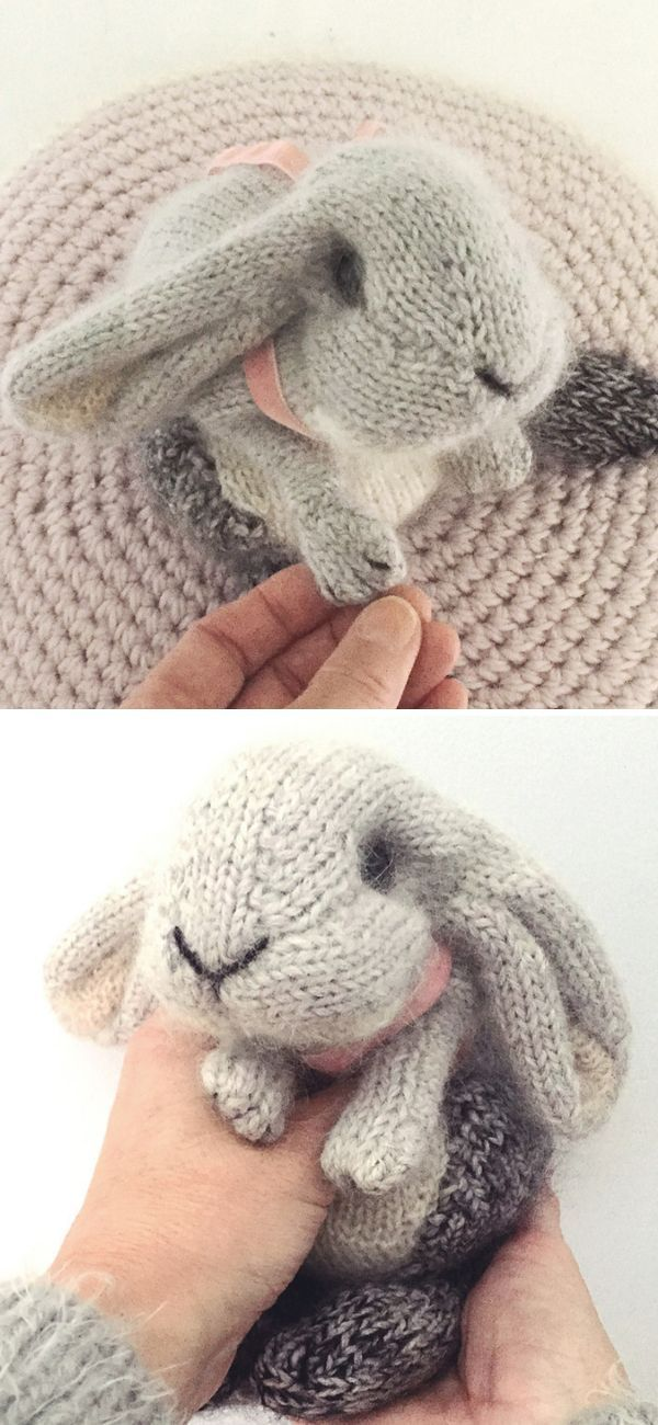 Amigurumi Knit Bunny Toy Softies Free Patterns Paid