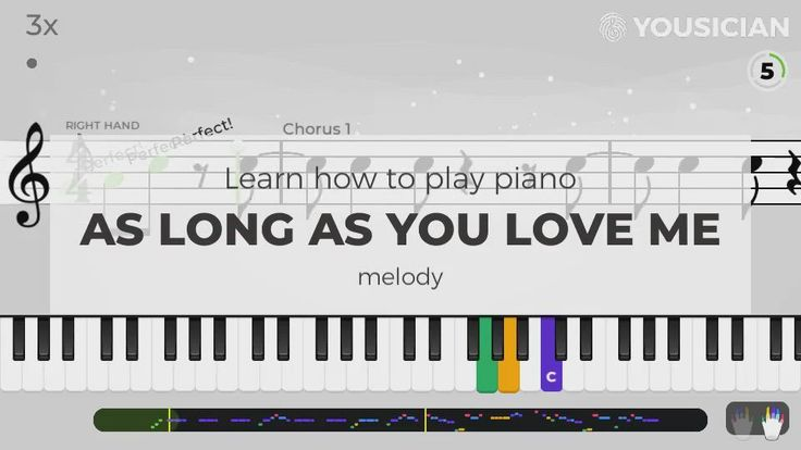 Piano for a beginner. Learn As Long As You Love Me by Backstreet Boys piano chords with Yousician. [Video] in 2020   Easy piano songs. Piano songs ...
