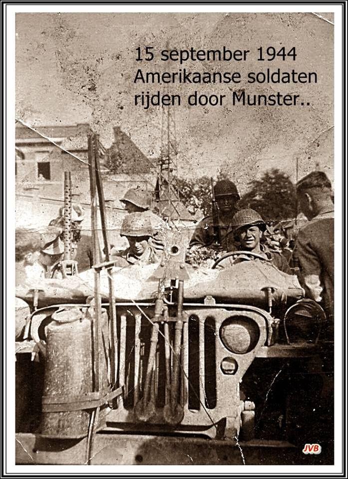 Amerikaanse soldaten in Munsterbilzen.