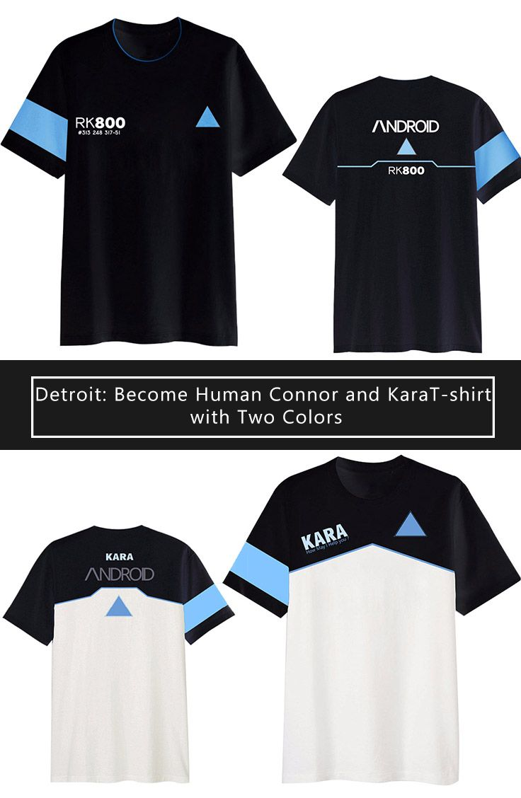 aea4388f4e5 Detroit  Become Human Connor and Kara T-shirt with Two Colors sells at  Miccostumes  cosplay  miccostumes  DetroitBecomeHuman  Connor  Kara   Connortshirt   ...