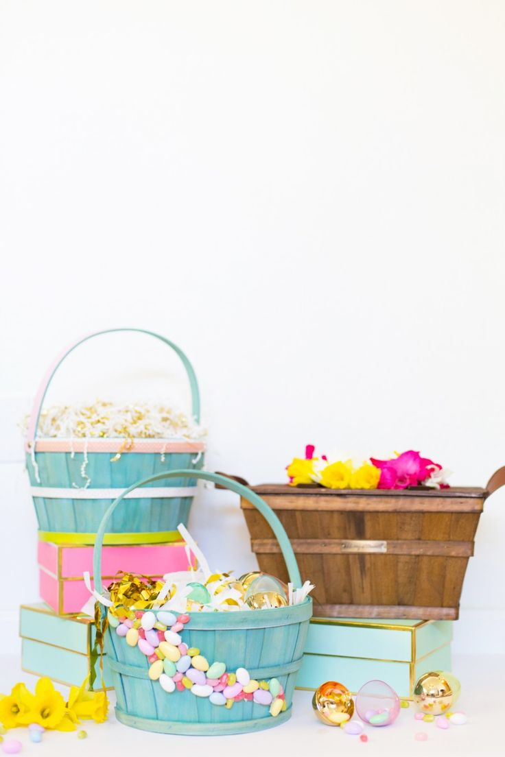 65 best hoppy easter images on pinterest hoppy easter easter how to make personalized gift baskets for easter negle Gallery