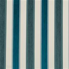 High Lo Stripe - Robert Allen Fabrics Blue Pine