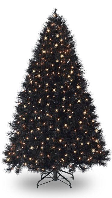 Black Christmas Trees (http://blog.hgtv.com/design/2012/11/23/daily-delight-black-christmas-trees/?soc=pinterest) @Angelica Collins