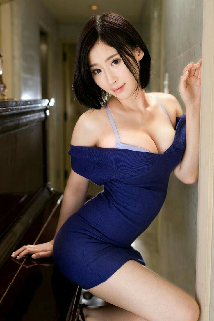 Hot asian girl with huge