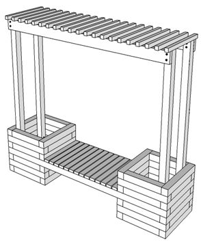 How To Build a Trellis Planter Bench | KaBOOM!