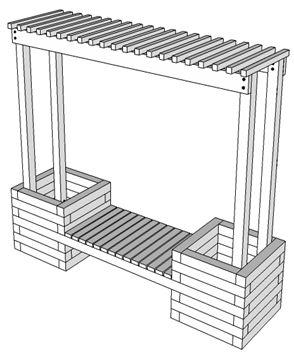 How To Build a Trellis Planter Bench | KaBOOM!