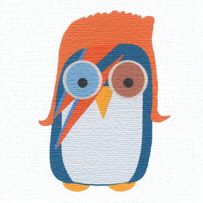 """""""Bowie Owl"""" You must know someone who would just love this card. Send it to them! Blank inside"""