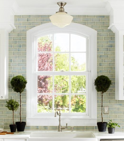 Blue Green Tile To Ceiling
