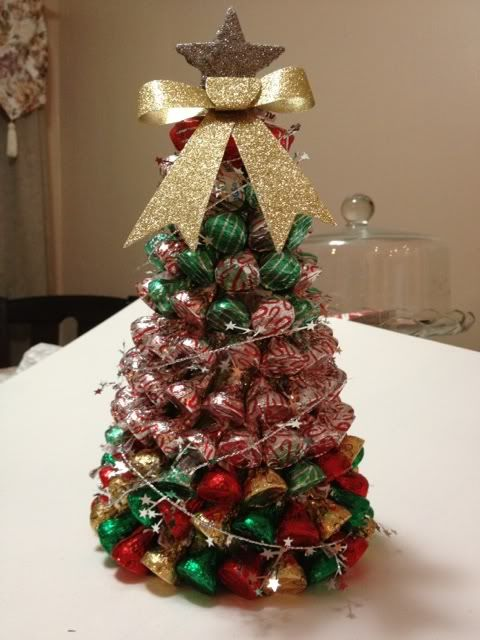 Hershey's Kisses Christmas tree how-to