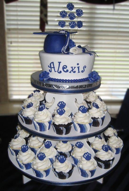 High School Graduation Cakes | High school graduation cake and cupcakes — Graduation Cakes Photos