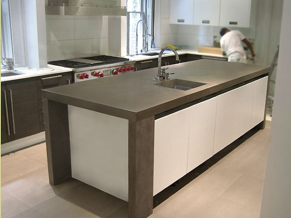 comfortable modern kitchen countertops on kitchen with concrete