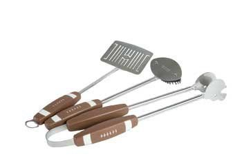 3 Piece Football BBQ Tools by Charcoal Companion. $39.95. 3-piece stainless steel golf club barbecue set with football theme. Includes fork, spatula, and tongs.. Save 11% Off!