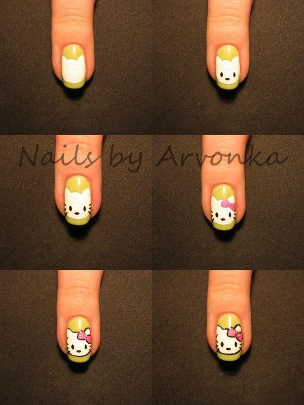 En la actualidad podemos llevar las uñas como queramos juega mucho la imaginación y personalidad Hello Kitty esta muy de moda! Así q para las amantes de la gatita, aquí hay un guía fácil para hacernos con amigas en una tarde de chicas por ejemplo! ;)